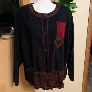 Funky vintage Button Down Sweater